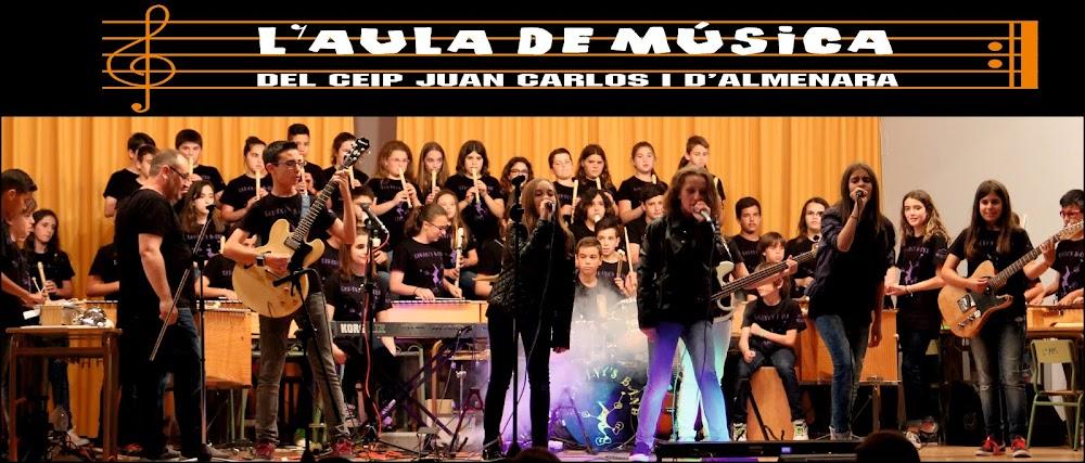 L'aula de Música del CEIP Juan Carlos I d'Almenara