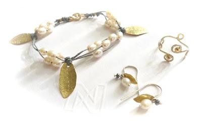 bracelet perles et vermeil