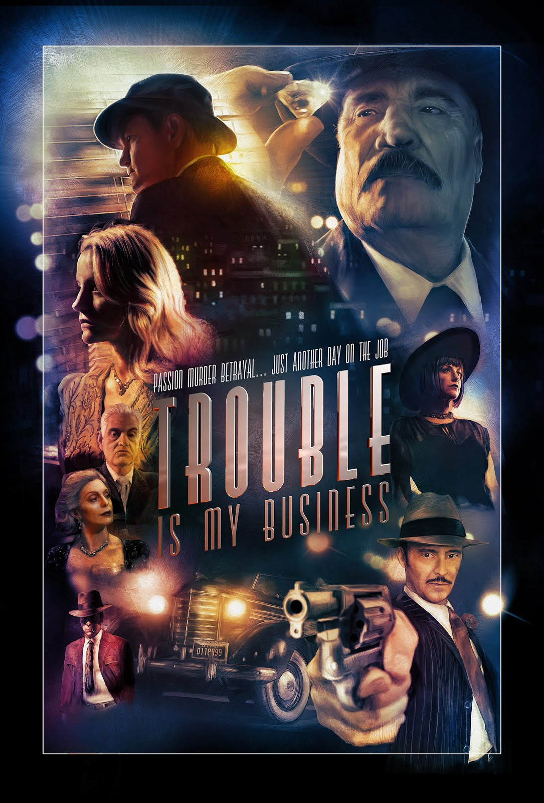 Classic Film Noir Feature Film Trouble Is My  Business