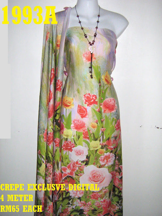 CP 1993A: CREPE EXCLUSIVE DIGITAL PRINTED, 4 METER