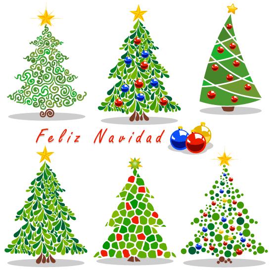 Arbolitos de navidad cartoon