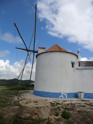 Windmills in Algarve Portugal.