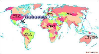 Bahamas World Map