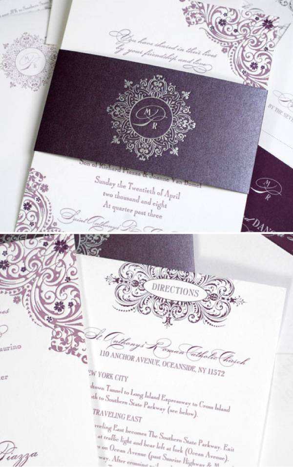 Wedding Invitations And Baby Shower Invitations Share How To Design Purple Wedding Invitations