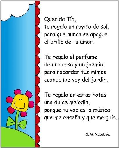 Poemas Para Maestras De Kinder