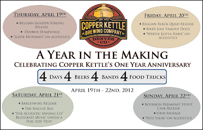 Copper Kettle 1st Anniversary