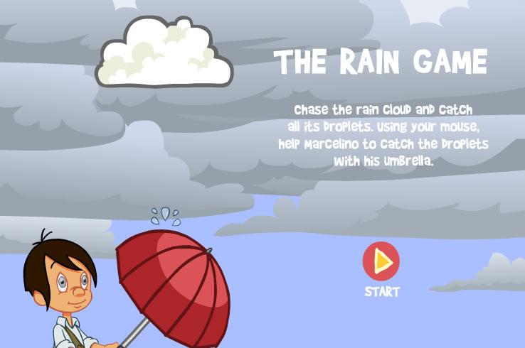 Kids Game : Raindrop Umbrella
