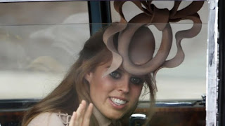 Pincess Beatrice looked as if her hat were antlers