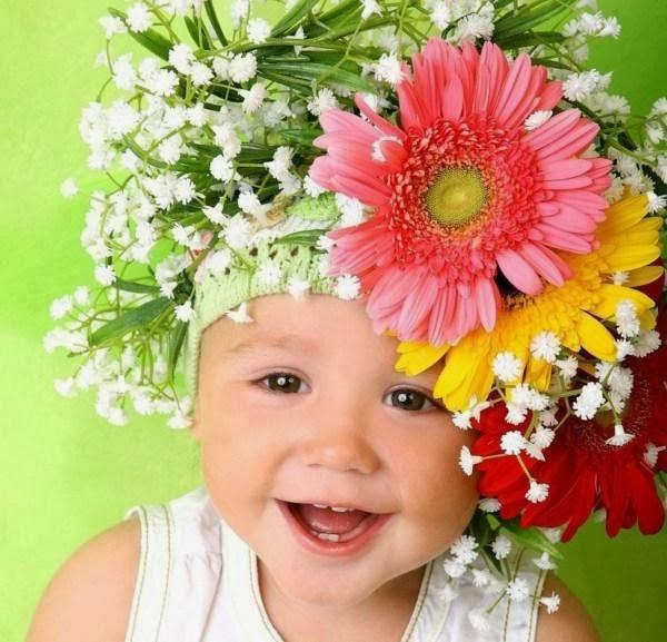 Imagenes bebés en flores - Imagui
