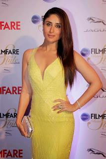 Kareena Kapoor in a Deep Neck Yellow Gown Spicy Pics Bajrangi Bhaijaan