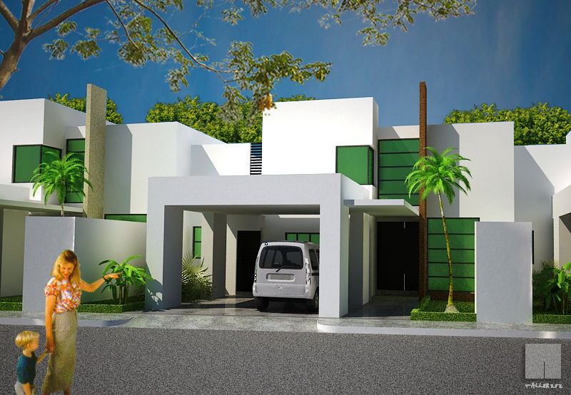 Fachadas minimalistas dise o de fachada minimalista con for Cocheras minimalistas