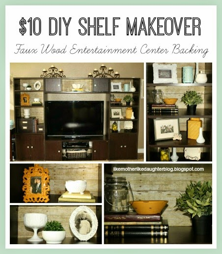 Faux Wood Backed Entertainment Center
