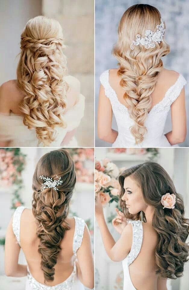 2015 wedding hairstyles for long hair half up