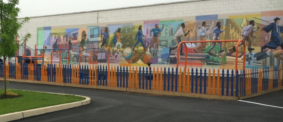 Building a great school mural for Mural on building