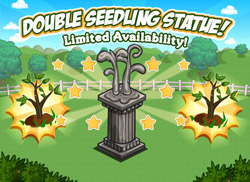 FarmVille Double Seedling Statue Loading Screen