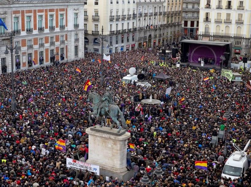 Marche à Madrid le 31 Janvier 2015