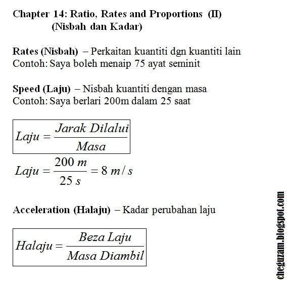 Nota Matematik Tingkatan Bab Ratio Rates And Proportions