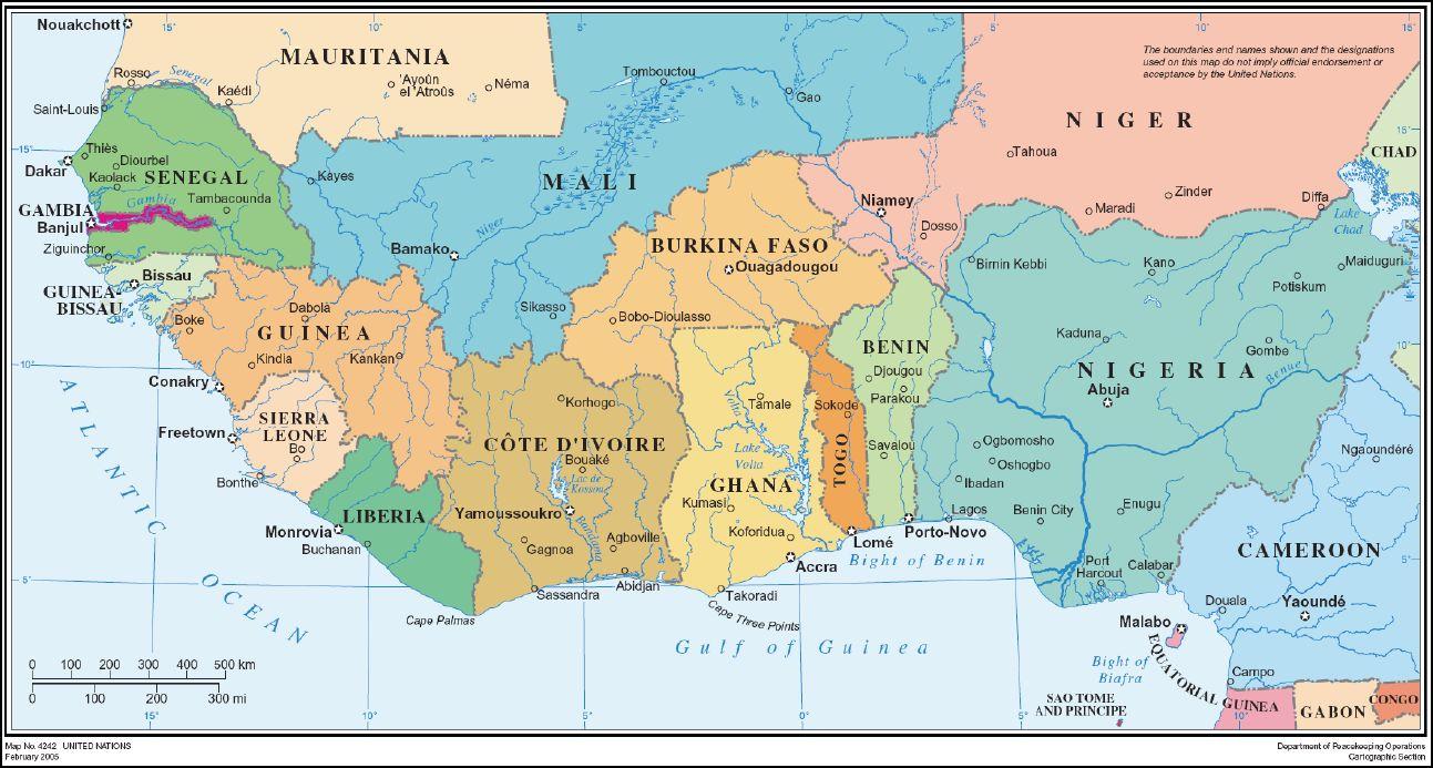 Map Of Burkina Faso And Surrounding Countries