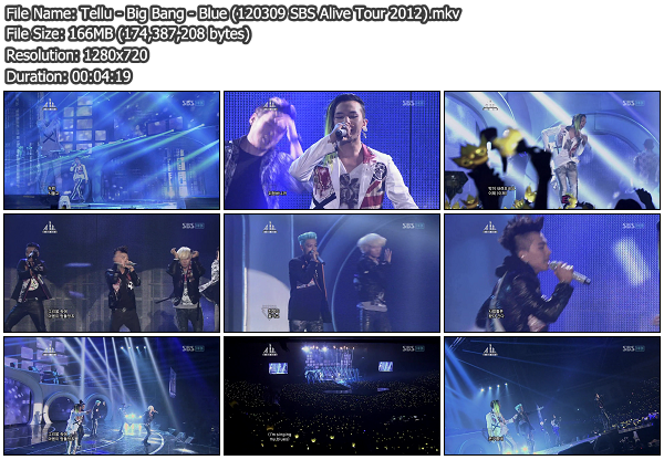[Perf] Big Bang   Blue @ SBS Alive Tour 2012 120309