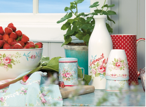 Greengate+DK+milk+bottle+and+latte+cups Shabby Chic Home Interior Decor and Gifts | Love From Rosie