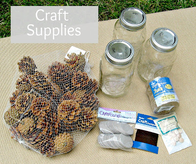 Craft Supplies for Pine Cone Flowers