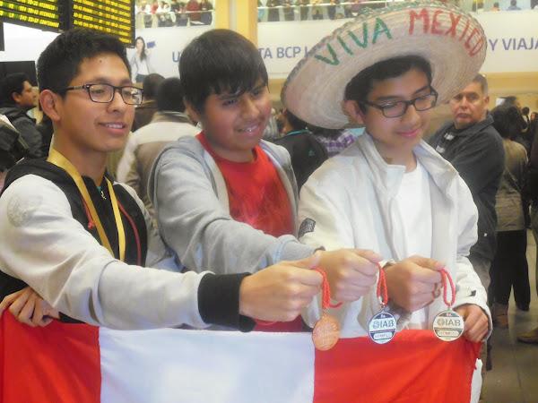 MEDALLAS DE ORO, PLATA Y BRONCE PARA PERU EN LA VIII OIAB MÉXICO 2014..