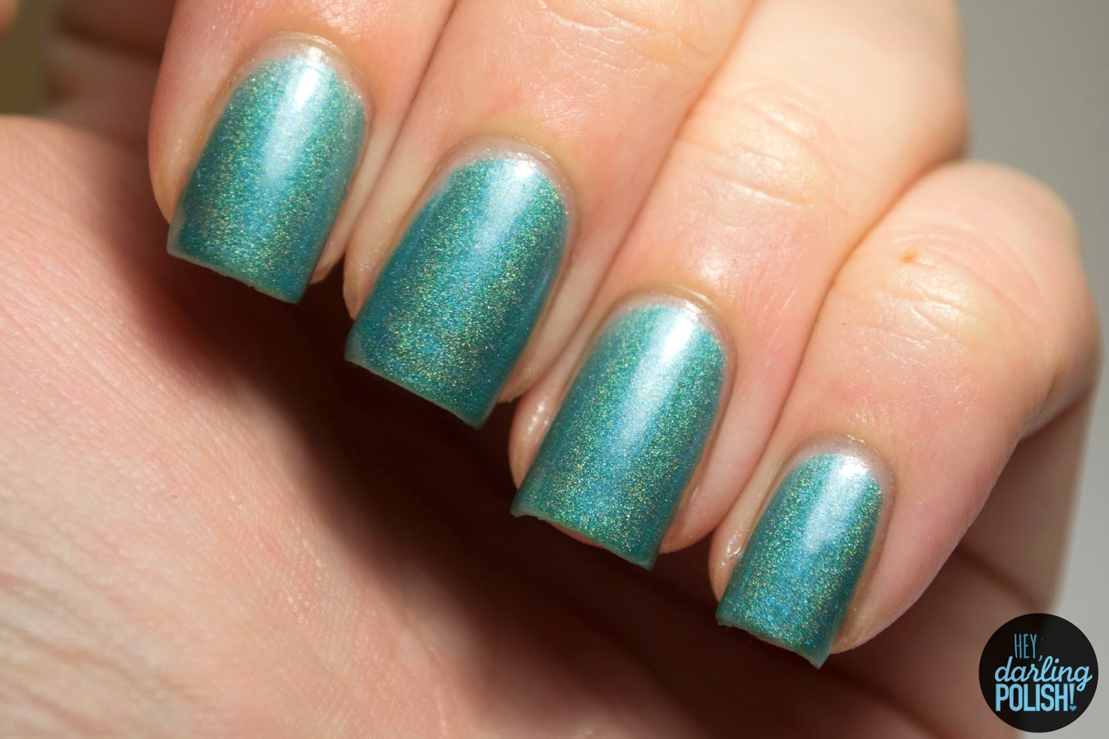 teal, unreal the end of time, holo, nails, nail polish, polish, indie, indie polish, indie nail polish, review, swatches, squishy face polish, spring collection