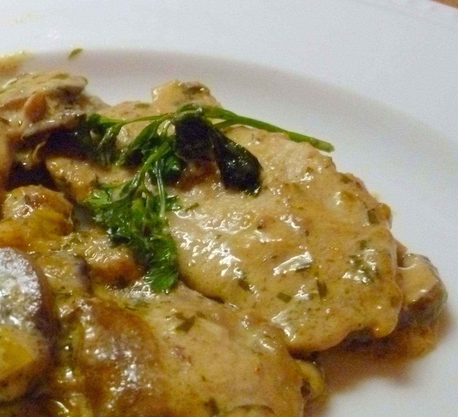 when the sauce is nicely veal scaloppine veal veal scaloppini with ...