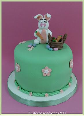 Mona Pascua Tarta Dulce Pastel Conejos Conejitos Huevos Zanahorias Buttercream Chocolate con leche Victoria Sponge Cake Vainilla Fiesta Cumpleaños Aniversario Niño Niña Fondant