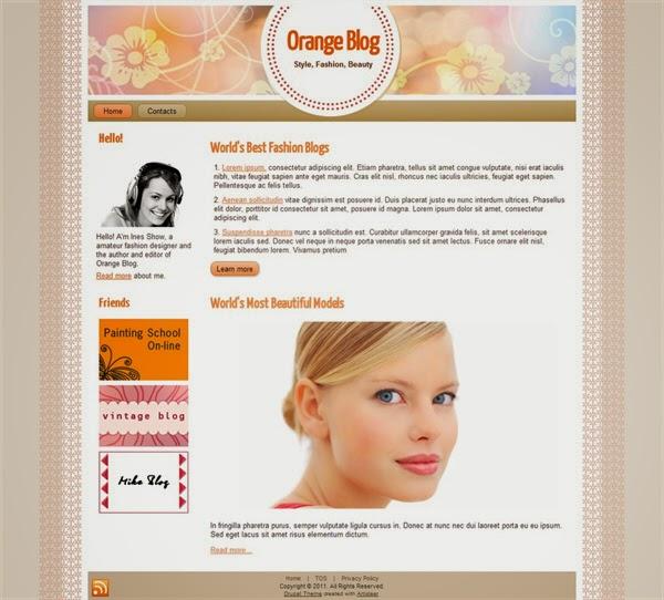 Orange Fashion - Free Drupal Theme
