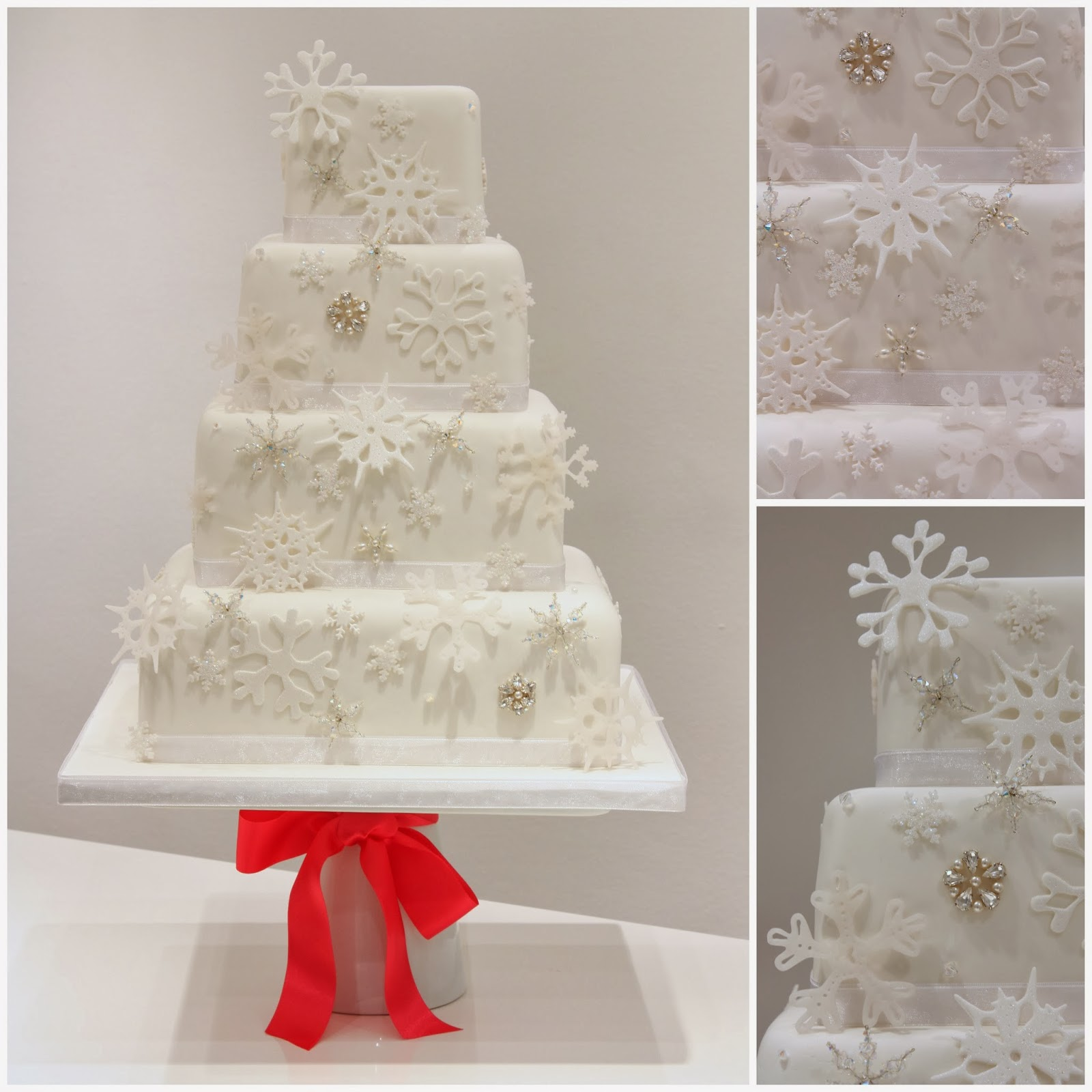Tiers & Tiaras: Snow Drift Wedding Cake