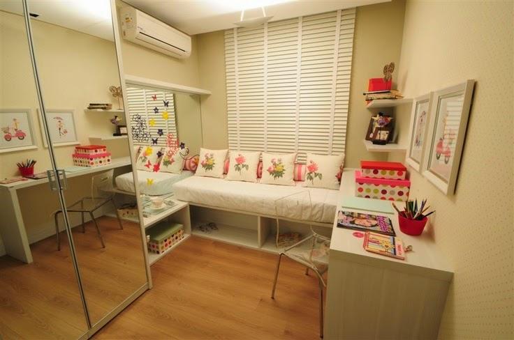 Decoração 10 quartos planejados para meninas, as  ~ Quarto Planejado Apartamento Pequeno Feminino