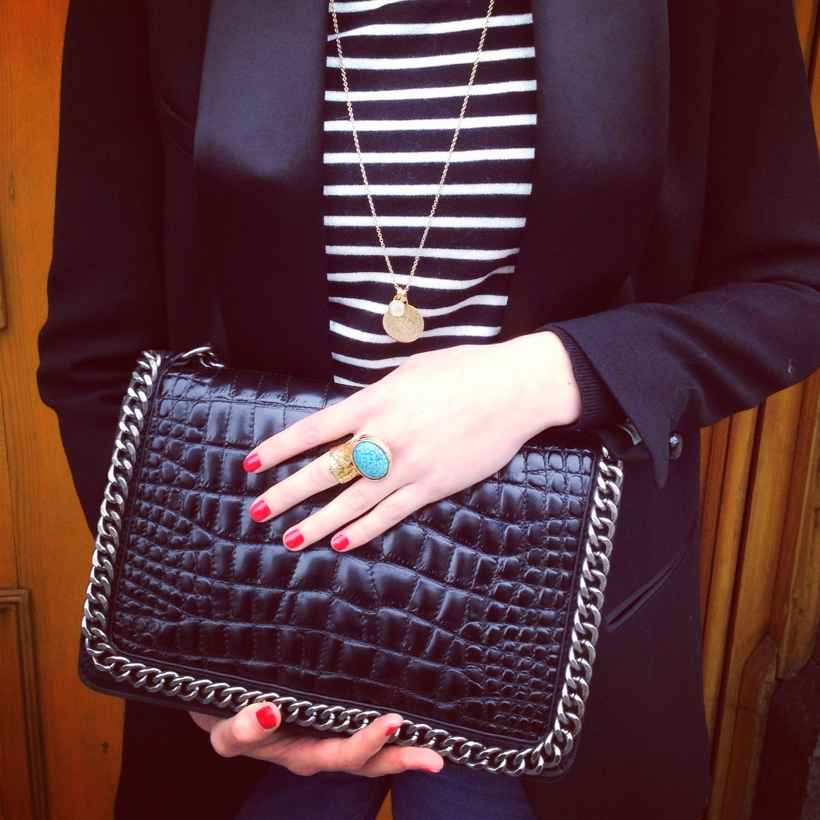 my week on instagram, zara bag, zara croco bag, isabel marant, isabel marant blazer, monica vinader, monica vinader jewellery