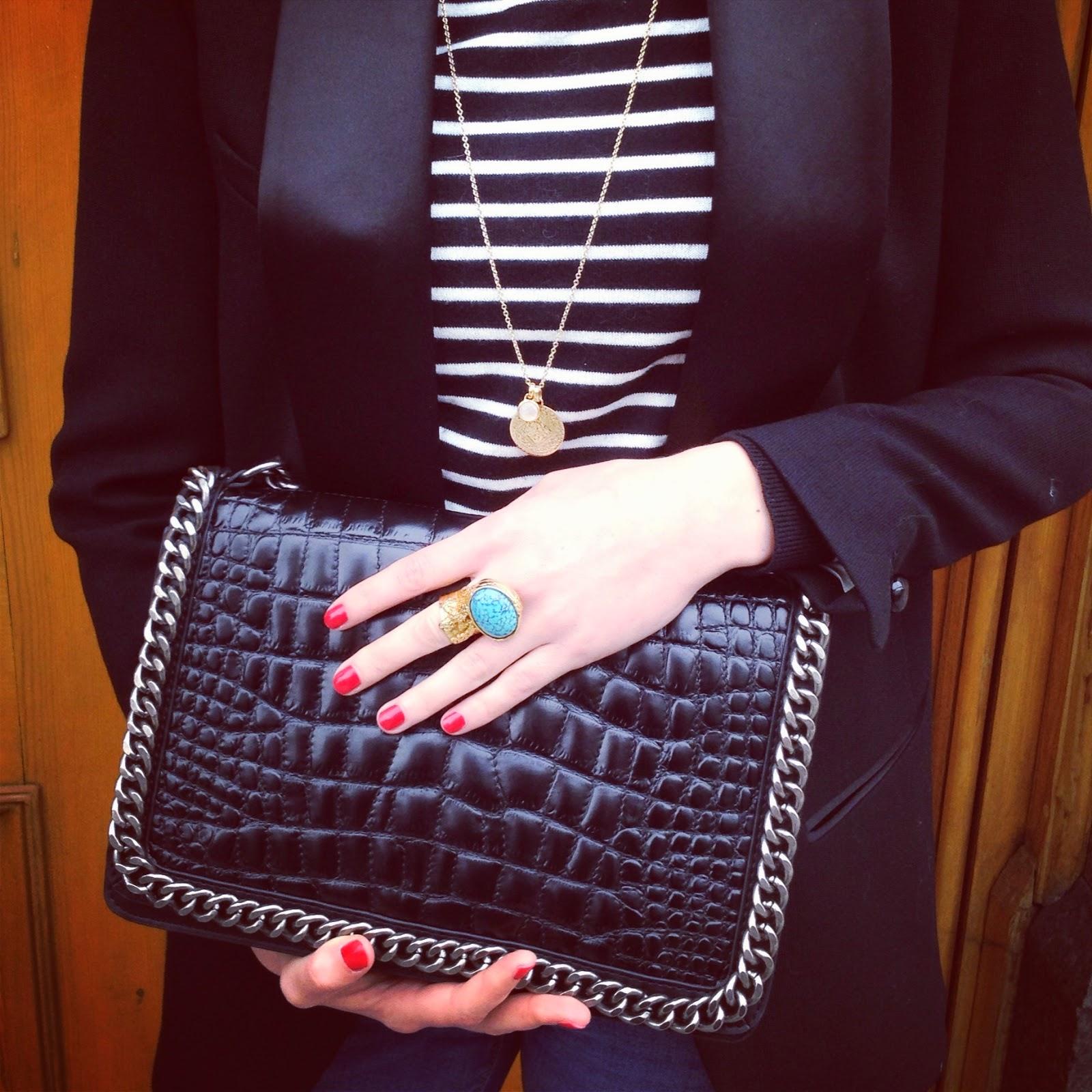 my week on instagram, zara bag, zara croco bag, isabel marant, isabel marant blazer, monica vinader, monica vinader jewellery