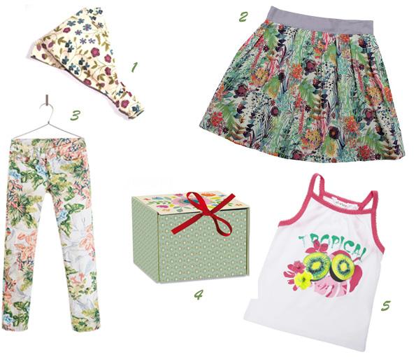Sélection habits fleuris pour enfants