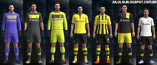 para PES 2012 Download, Baixar Uniforme do Borussia Dortmund 2012/13