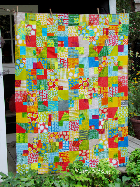charm pack/layer cake sew and slice....mod quilt - marty mason