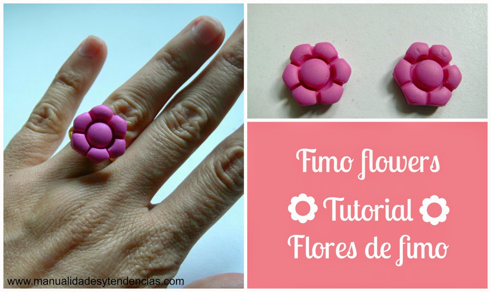 Tutorial flor de fimo / Fimo flower tutorial