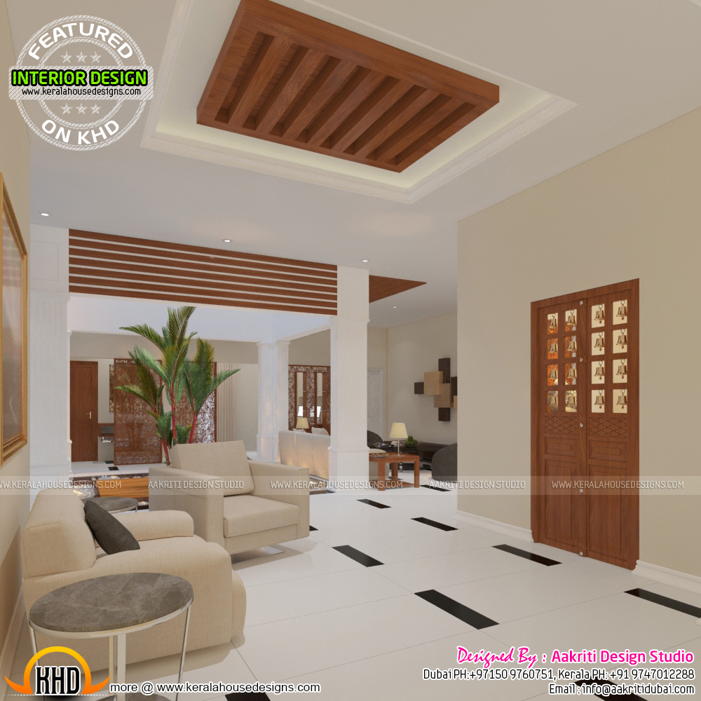 Foyer Plan Kerala : Sq ft beautiful modern flat roof keralahousedesigns