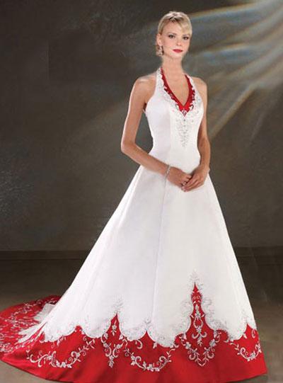 Свадебное платья фото белое с красным