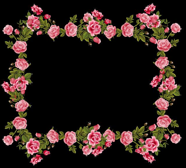 Vintage Rose Borders and Frames