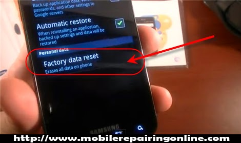 totally reset Wipe data  remove password Android
