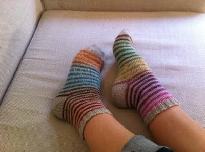 Trico bsession tricoter des chaussettes ray es - Comment tricoter avec des aiguilles circulaires ...