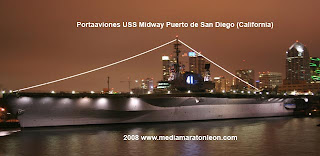 Portaaviones USS Midway Puerto de San Diego (California) www.mediamaratonleon.com