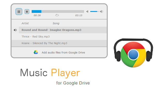 music player Google Drive