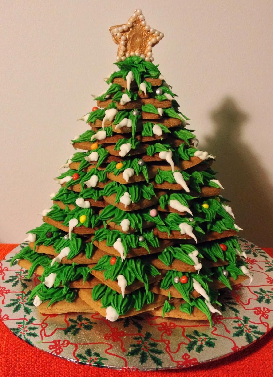 How to make a 3d christmas tree cake