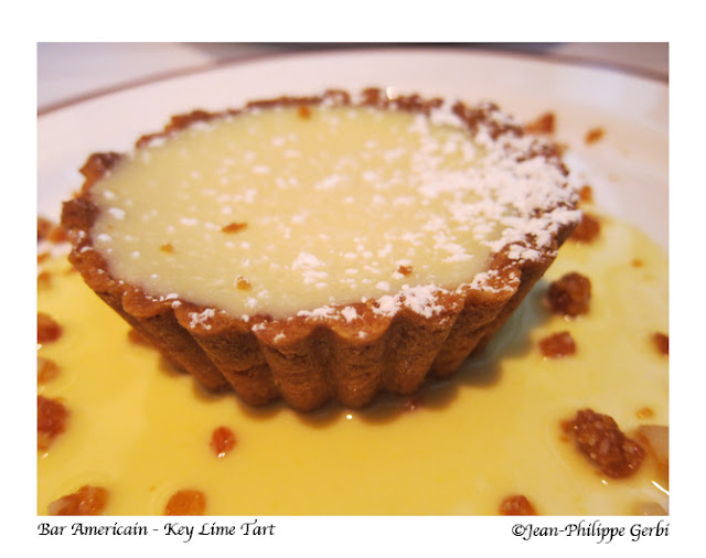 Image of Key lime tart at Bar Americain in NYC, New York Bobby Flay