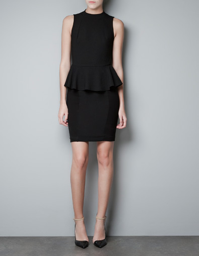 Vestido peplum de Zara otoño/invierno 2012