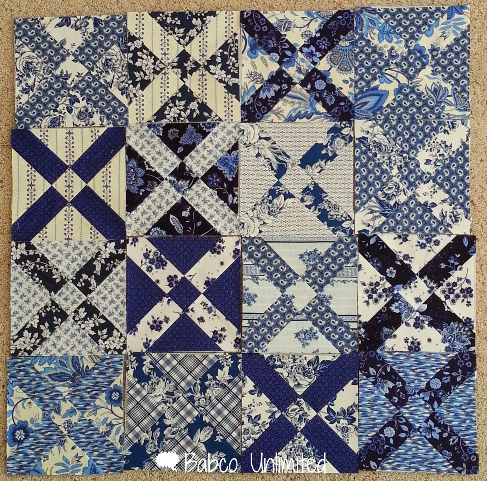 BabcoUnlimited.blogspot.com -- Old Italian Quilt, Blue & White quilt