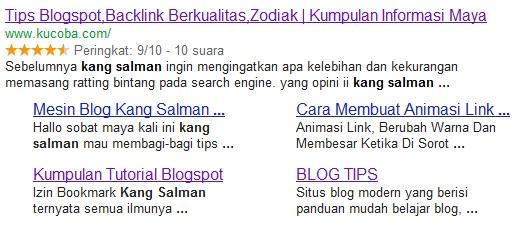 Menampilkan Rating Star Pada Hasil Pencarian - Bintang Pada Search Engine